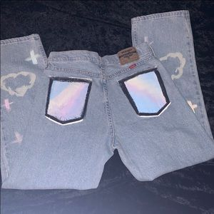 Customized Wrangler Jeans